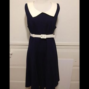 Pinup Couture Navy Blue Collared A-Line Dress 2X